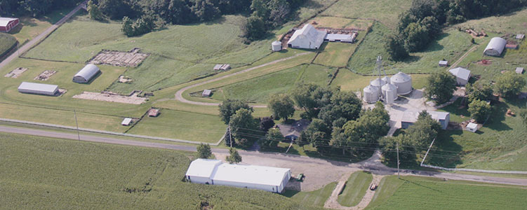 aerial photo of cahill farm
